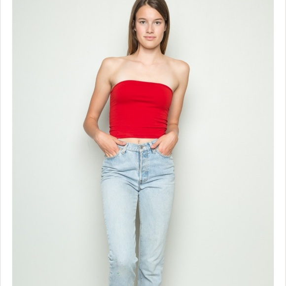 78d6474e08e Brandy Melville Tops - Red Jenny tube top