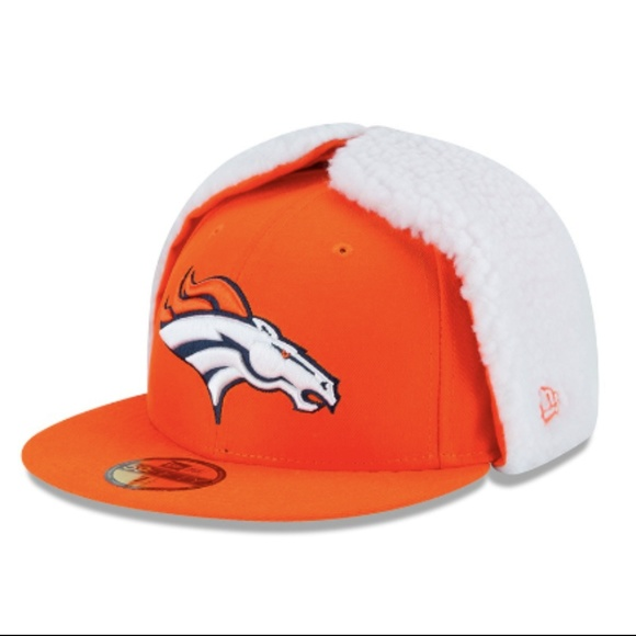 dc34ae2a Denver Broncos Flurry Fit Dog Ear Fitted Hat Boutique