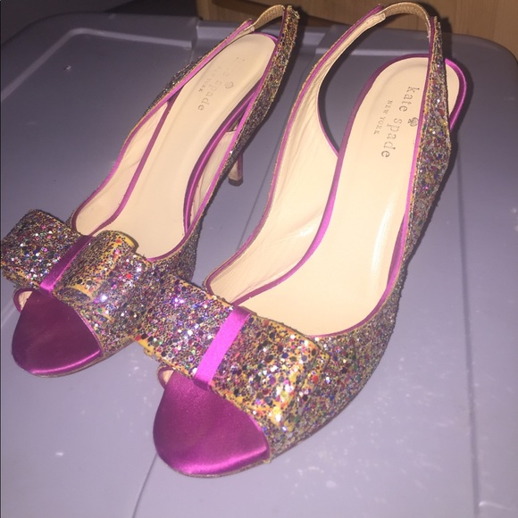 eab26fd16450 kate spade Shoes | Rainbow Sparkly Heels | Poshmark