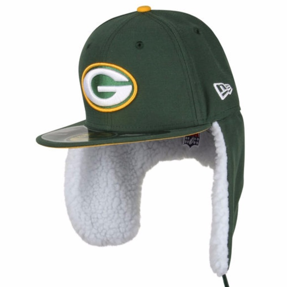 751927ce Green Bay Packers Flurry Fit Dog Ear Fitted Hat Boutique