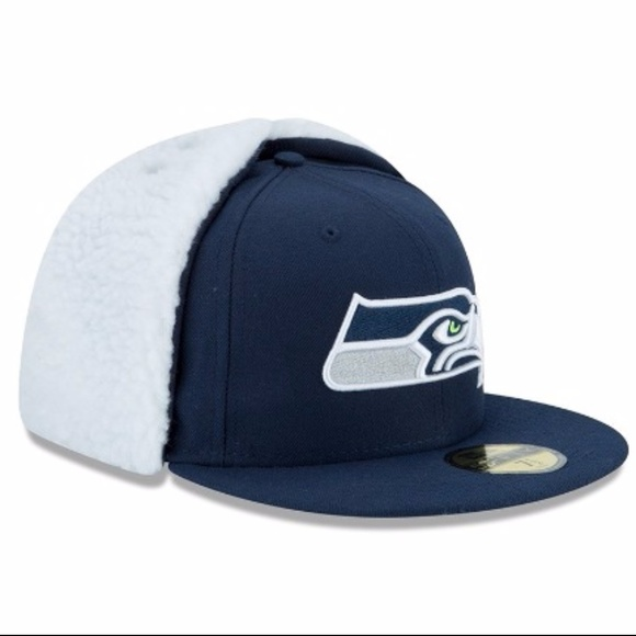 Seattle Seahawks Flurry Fit Dog Ear Fitted Hat 8adde4ed5