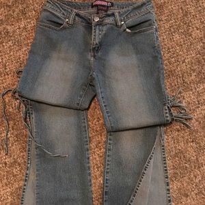 Denim - BUBBLEGUM AMERICAN FLAVOR Vintage High waist jeans