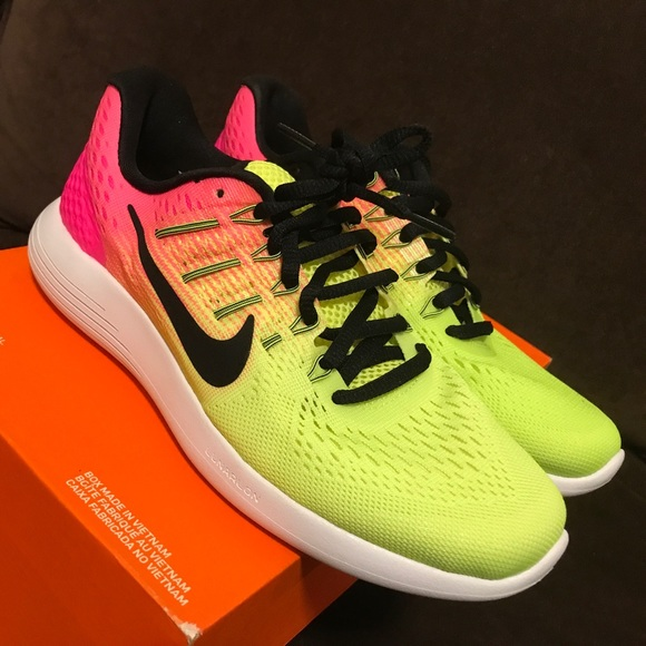 6c105b1080caf Nike Shoes | Womens Lunarglide 8 Oc 844633 999 Pink Yellow | Poshmark