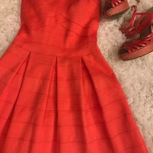 Express Dresses - 💰REDUCED 💰Straplss Coral FitnFlare Express dress
