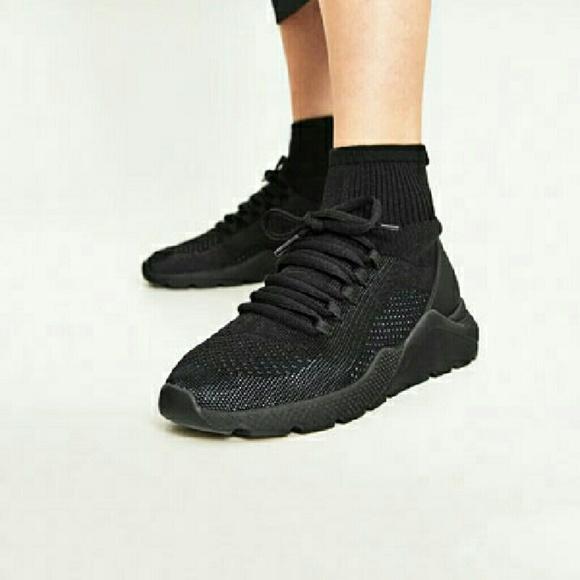 Zara Shoes | Sock Sneakers | Poshmark