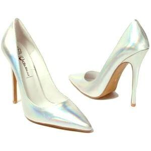 Jeffrey Campbell Darling Silver Hologram Heels