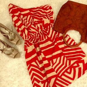 Flirty One Shouldered Red & Tan Zebra Vaca bundle