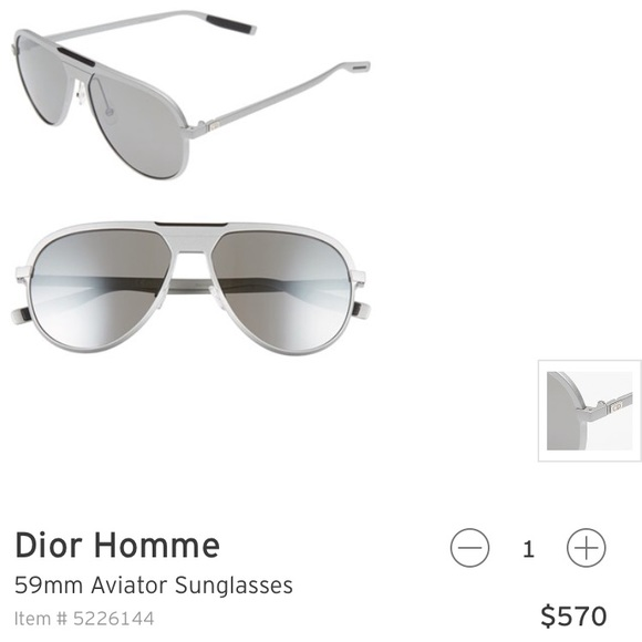 0ed637e4a8725 Christian Dior Homme Sunglasses. Boutique. Dior.  145  570. Size