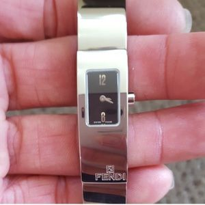 Genuine FENDI Swiss made silver bracelet watch