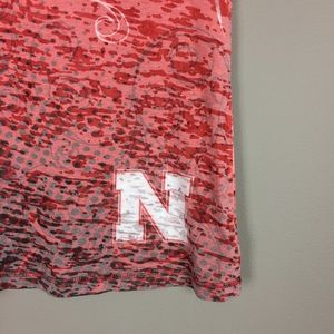 Tops - X Nebraska Cornhuskers burnout top
