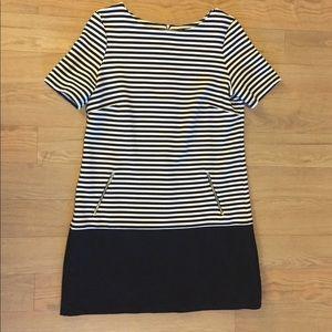 Wallis Black & White Striped Dress Size 10