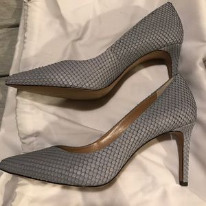 4d89260427a Banana Republic Shoes - Madison 12 hour pump in Pale Blue snake effect
