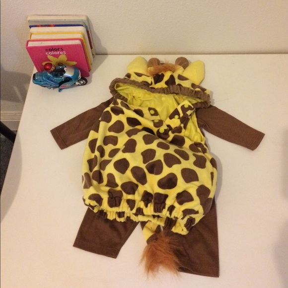 infant baby giraffe costume 0 3 months 3 pieces