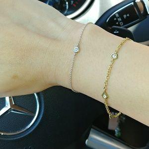e3b60270ce8e7 Tiffany & Co Diamond by the Yard Bracelet