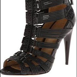 L.A.M.B. Leather gladiator shoes