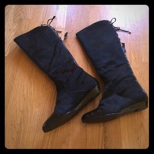 Like new Miglorini Tall Leather Calfhair Boots 6.5