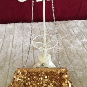 Handbags - Party purse with gold sequins
