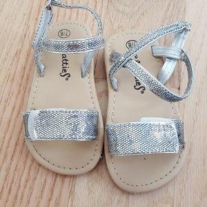 Silver glitters sandals