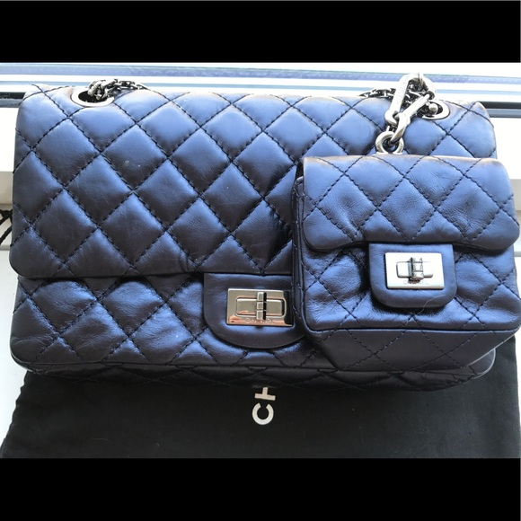 5d2dea6198 CHANEL Handbags - Chanel Metallic Reissue Flaps Shoulder Bag Blue