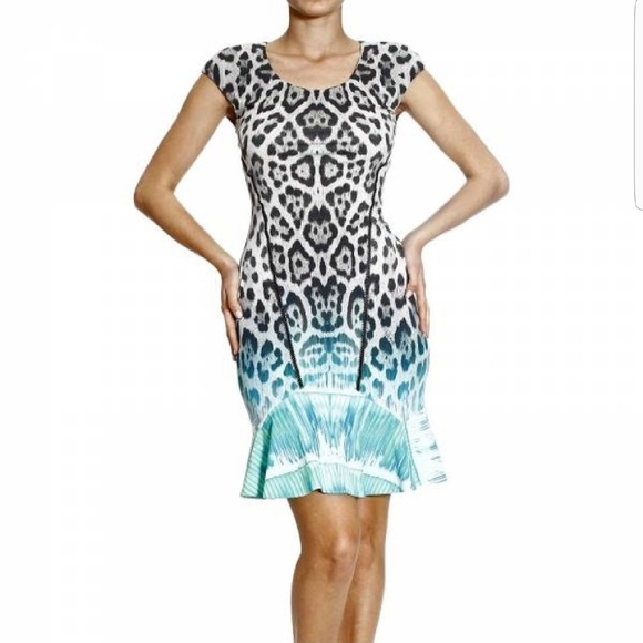 f4d7a08ed8 Gorgeous Roberto Cavalli grey leopard print dress.  M 597f5e6f6a5830f51a1044f9