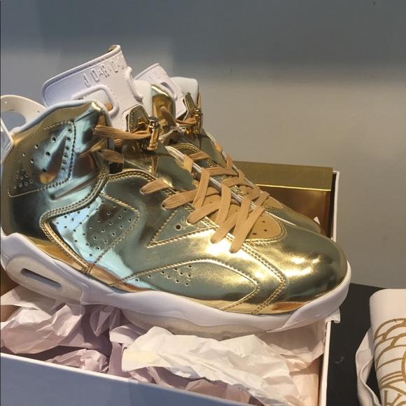 46e97938449d4e Air Jordan 6 vi metallic gold pinnacle sz 10 New