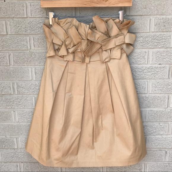 Fumblin Foe Dresses Strapless Pleated Origami Dress Poshmark