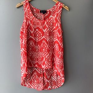 Tops - Coral/White Top!