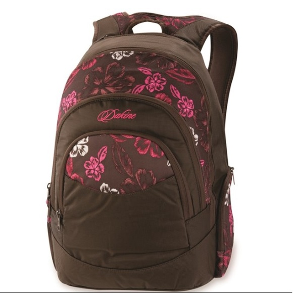 Dakine Bags Prom Backpack Pink And White Hibiscus Print Poshmark