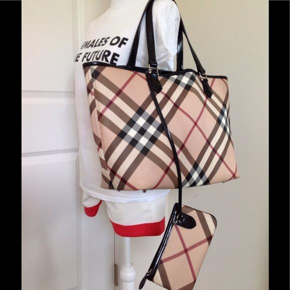 a145e4fe4e3 Burberry Handbags - Authentic Burberry supernova check XL tote handbag