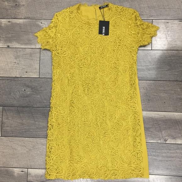 3b06db60f92ac4 Zara Dresses   Nwt Embroidered Lace Dress Medium   Poshmark