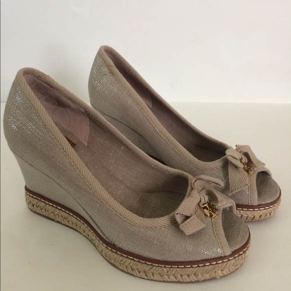 d0917f5174f Tory Burch Jackie Metallic Wedge Espadrilles 6