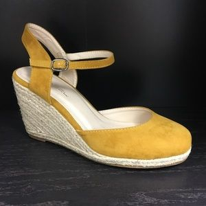 Shoes - Mustard espadrille wedge