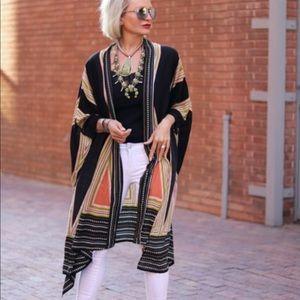 Tops - Geo Print Kimono