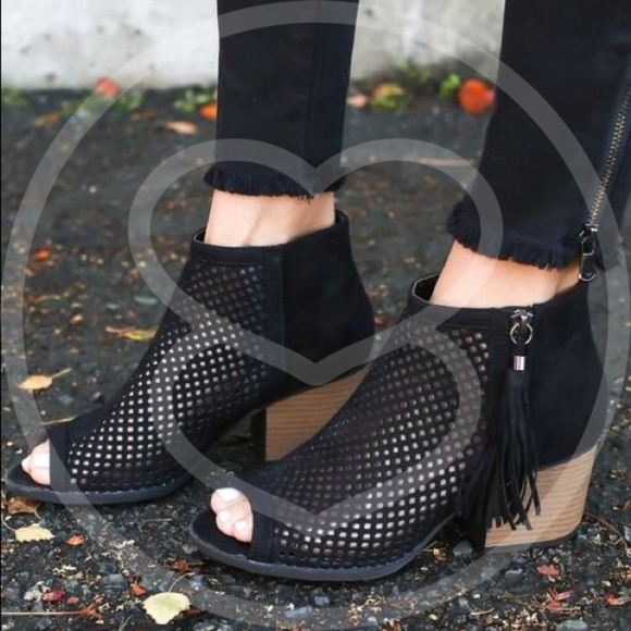 Shoes - Vivi Peep Toe Bootie