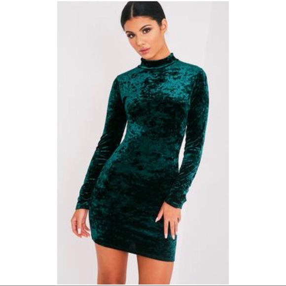 Emerald Green Velvet Dress