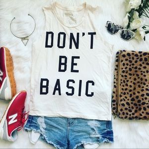 "Tops - 🖤 ""Don't Be Basic"" Tank Top"
