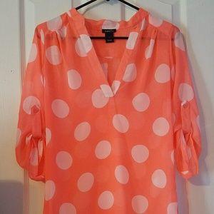 Polka Dot Pink Shirt
