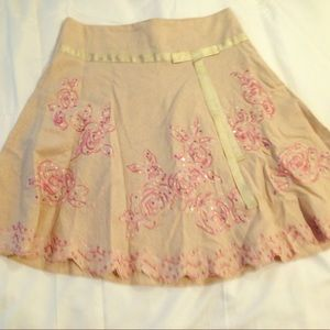 Darling Linen Skirt -- New Without Tags