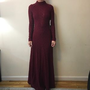 NWT Free People Beet Root Lace Long Maxi Dress