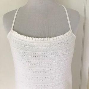 ZARA BASIC WHITE DRESS.