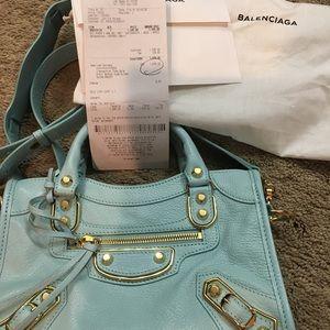 Balenciaga Bags - Brand New Balenciaga Mini City bag Maldives Blue