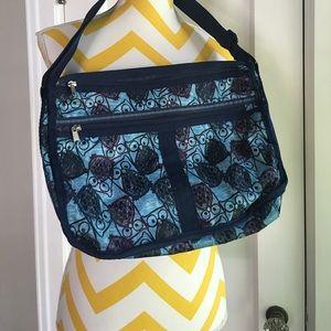 Handbags - Navy &purple Owl nylon bag similar to Lesportsac