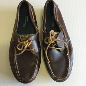 Timberland Men's Brown Leather Boat Shoes size 12