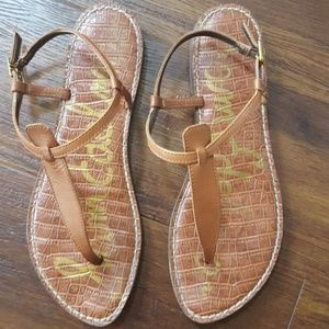 Sam Edelman gigi flat sandal saddle 9.5