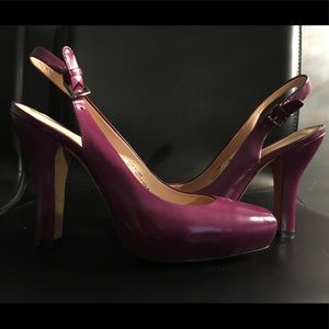 Purple Boutique 9 sling back platform pump size 6