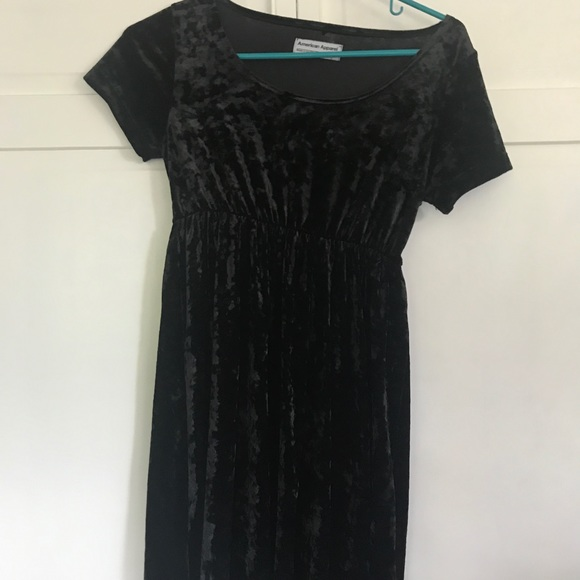American Apparel Dresses & Skirts - american apparel black velvet dress