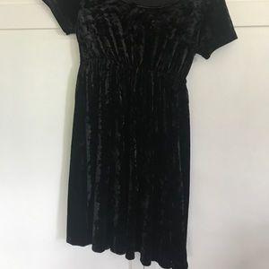 American Apparel Dresses - american apparel black velvet dress