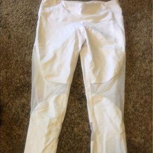 White Alo workout leggings