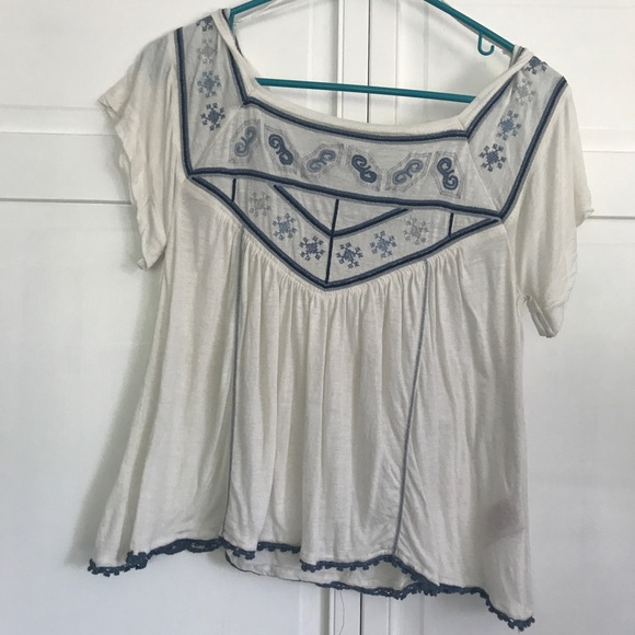 Free People Tops - Embroidered Top