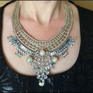 Jewelry - Boho Middle Eastern Crystal Statement Necklace